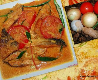 Fish Molee/ Fish with coconut milk