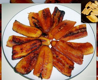 Fried Plantain with Ghee and Sugar