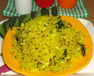 Cabbage poriyal recipe, cabbage sabzi