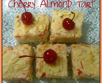 My 100th post : Cherry-Almond Tart with Cheese filling