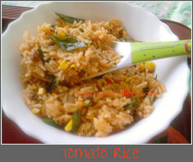 Tomato Rice - South Indian Style
