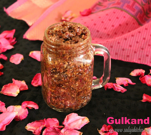 Gulkand Recipe / Homemade Gulkhand / Rose Petal Jam / Rose Petal Preserve / - How To Make Gulkand At Home
