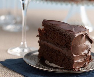 Double-Deep-Chocolate Hanukkah Layer Cake