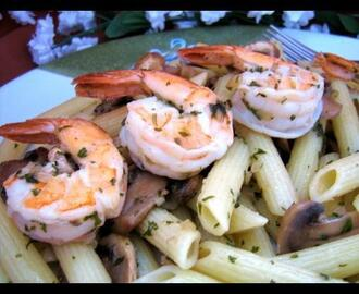 Penne With Shrimp and Mushrooms - on the Lighter Side