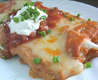 Quick Mexican Cheese Enchiladas