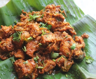 Chicken Roast Recipe - Kerala Style Chicken Roast Recipe