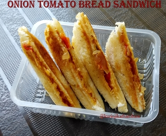 Onion Tomato Bread Sandwich | Bread Recipes
