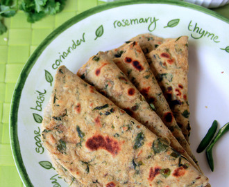 Methi  Paratha / Chappathi / Chapathi - Simple one pot meal - Dinner, Lunch recipe