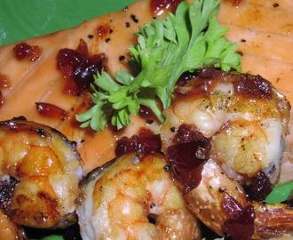 Red Lobster Maple-Glazed Salmon & Shrimp