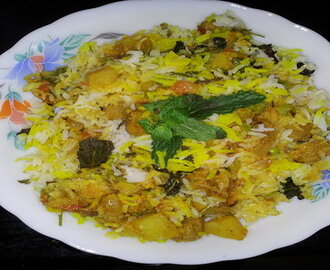 Dum Veg Biryani Recipe without Onion and Garlic