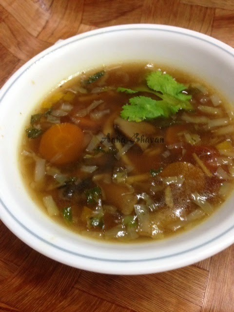 Chinese mixed vegetable soup
