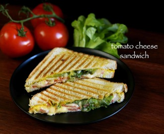tomato cheese sandwich recipe | cheese and tomato sandwich
