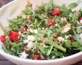 Israeli Couscous with Watermelon, Arugula and Feta