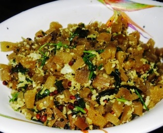 Banana Stem Dry Curry ( Baale Dindina Palya)
