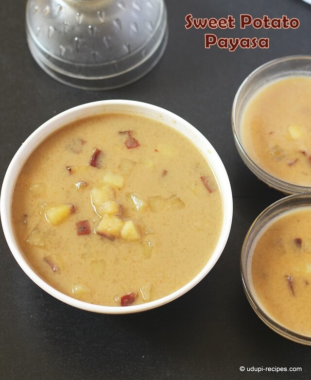 Sweet Potato Kheer | Sweet Potato Payasam Recipe