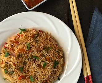 Chinese Fried Rice | How to make Chinese Fried Rice at home | Indo- Chinese Dish |Stepwise Pictures
