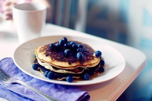 I love stories. Blueberry Pancakes.