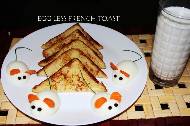 EGG LESS FRENCH TOAST - EASY  BREAKFAST IDEAS