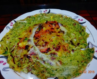Vegetable spicy omelette