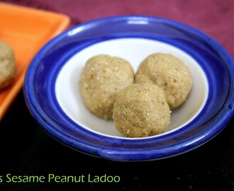 Oats Sesame Peanut Ladoo Recipe ~ Quick Toddler Recipe