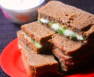 Cucumber & Cream Cheese Tea Sandwich Recipe