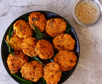 Masala Vada And Elaichi Chai {Spicy Lentil Fritters And Cardamom Tea}