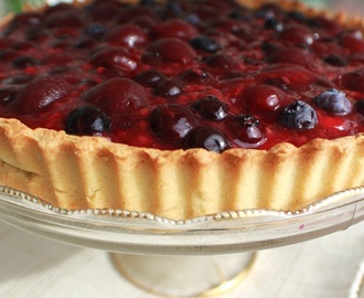 Very Berry Cherry Italian Cream Tart