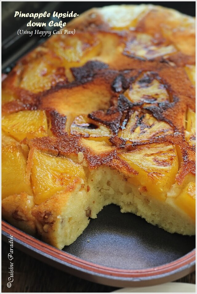 {Happy Call Pan Version} Pineapple Upside-down Cake