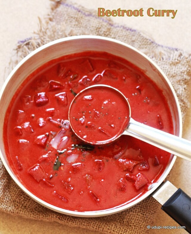 Beetroot Curry Recipe In Udupi Style