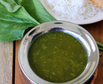 Spinach Rasam - Spinach and Dhal soup - Spinach and dal soup - Healthy Soup recipe - Starter Recipe