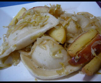 Potato Dumplings w/ Cabbage & Apples