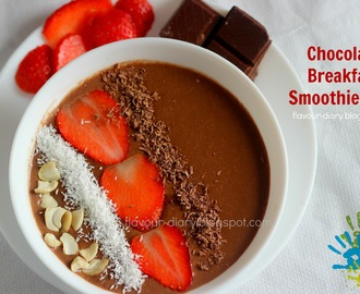 Chocolate Breakfast Smoothie Bowl | how to make breakfast smoothie