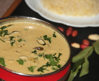 Rasam/Soup – Roasted peanuts and Onion