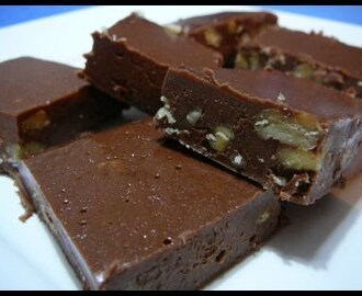 Milk Chocolate Fudge with  Walnuts