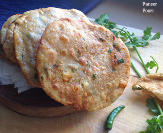 Paneer ki Poori | How To Make Paneer Stuffed Pooris