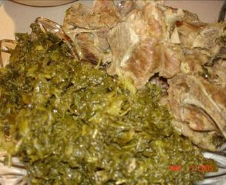 Neckbones and Collard Greens or Turnip Greens