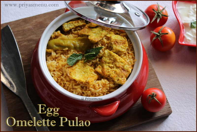 Egg Omelette Pulao / One pot meal / Lunch box recipe