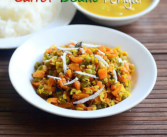 Carrot Beans Poriyal Recipe - Curry Recipe