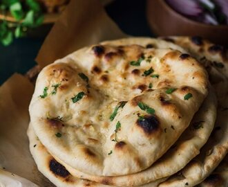 No Yeast Whole Wheat Garlic Naan