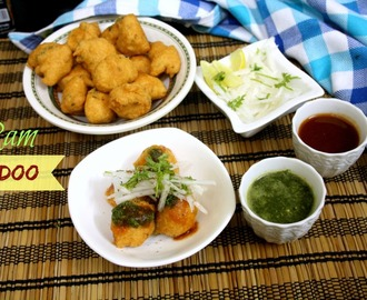 Ram Ladoo Recipe | Deep Fried Moong Dal Fritters Chat