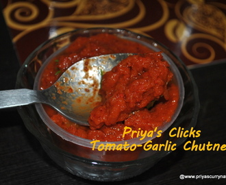 Tomato Chutney Recipe,how to make tomato-garlic chutney