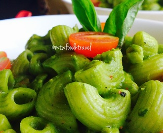 ELBOW MACARONI IN HEALTHY GREEN SAUCE - LET'S GO GREEN