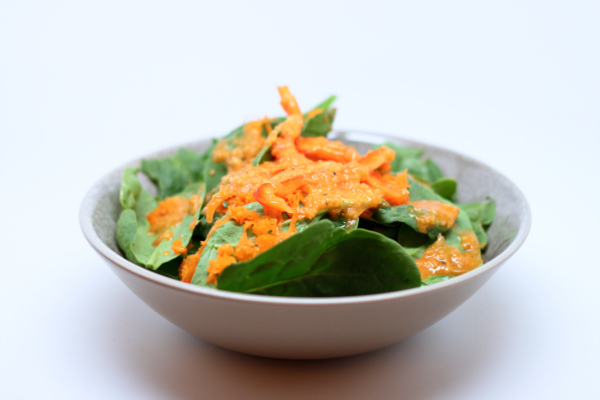 Spinach with Ginger Dressing