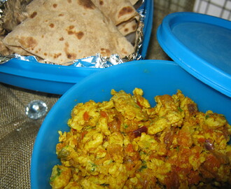 Anda Bhurgi Masala/Spicy Scrambled Eggs[Lunch Box Recipe]