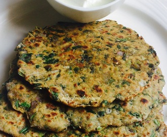 SPINACH BROCCOLI PARATHA/INDIAN FLAT BREAD - EMBEDDED WITH HEALTH