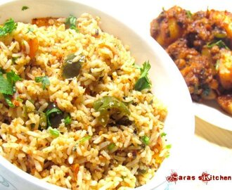 Capsicum / Bell pepper rice