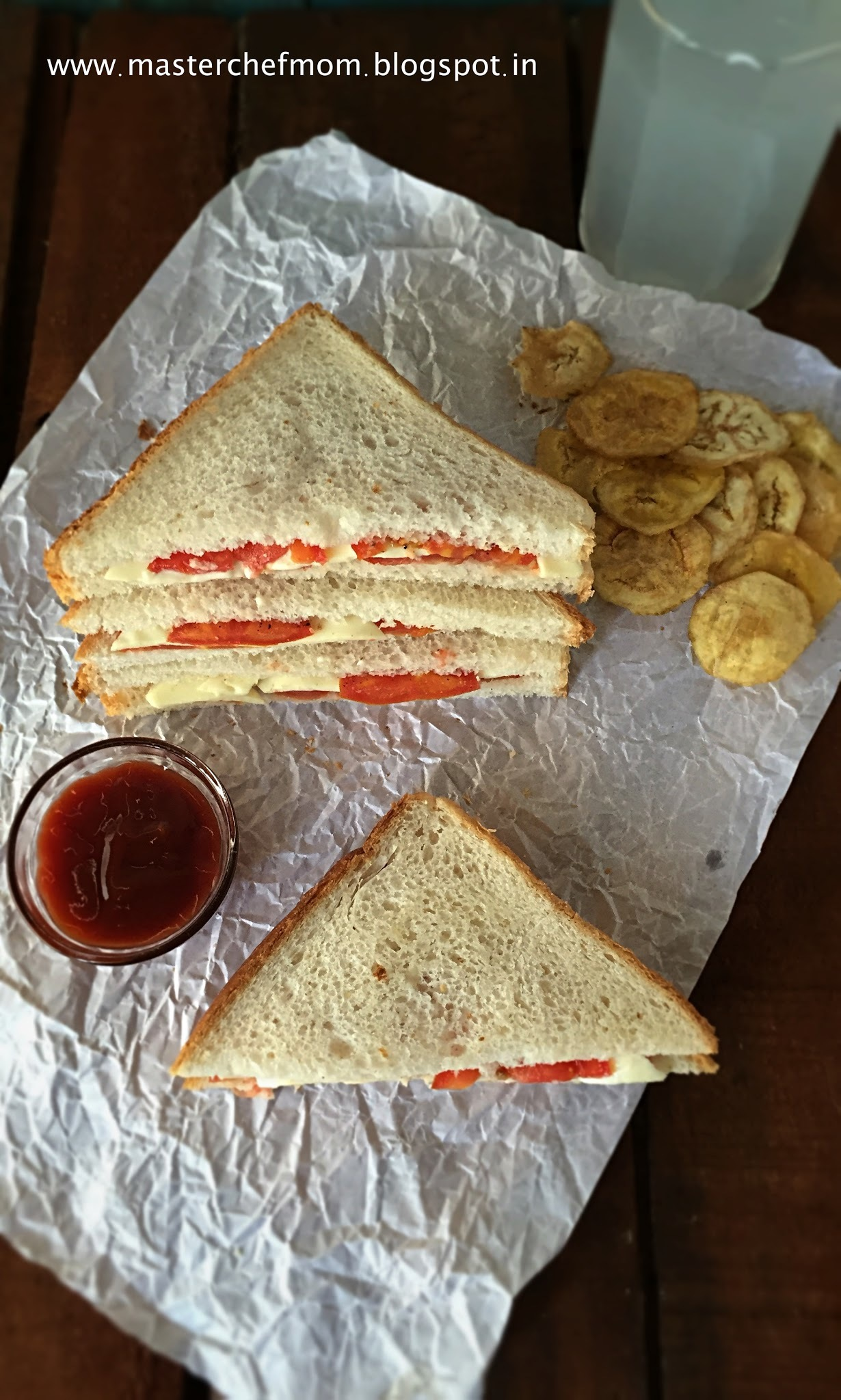 Tomato Cheese Sandwich | Classic Tomato Cheese Sandwich |How to make Tomato Cheese Sandwich at Home | Picnic/Travel/Tiffin Box Special Sandwich | Stepwise Pictures | Quick and Easy Recipe
