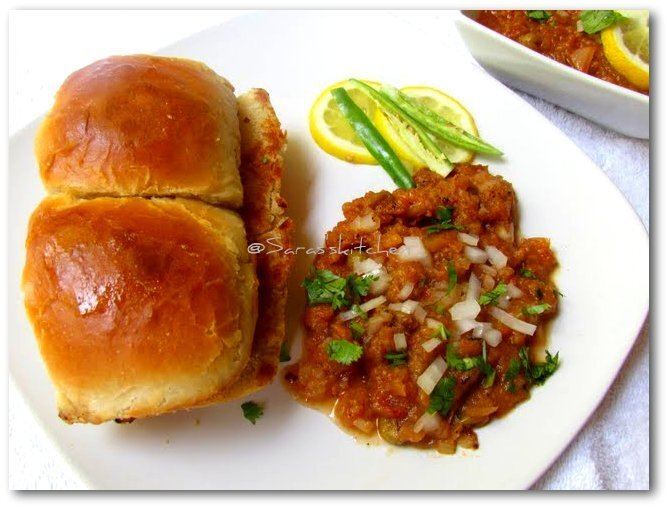 Pav buns & Pav bhaji with step by step pictorial