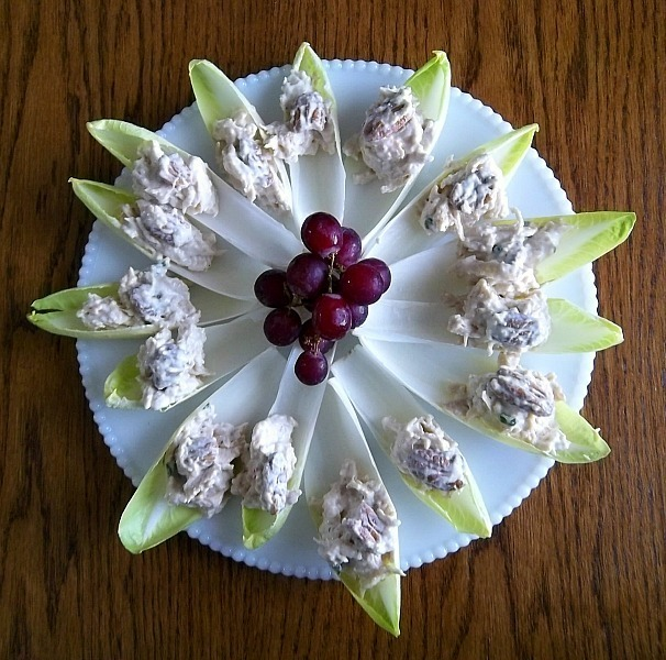 Saucy Mama Honey Mustard Chicken Salad in Endive Cups (glutenfree)