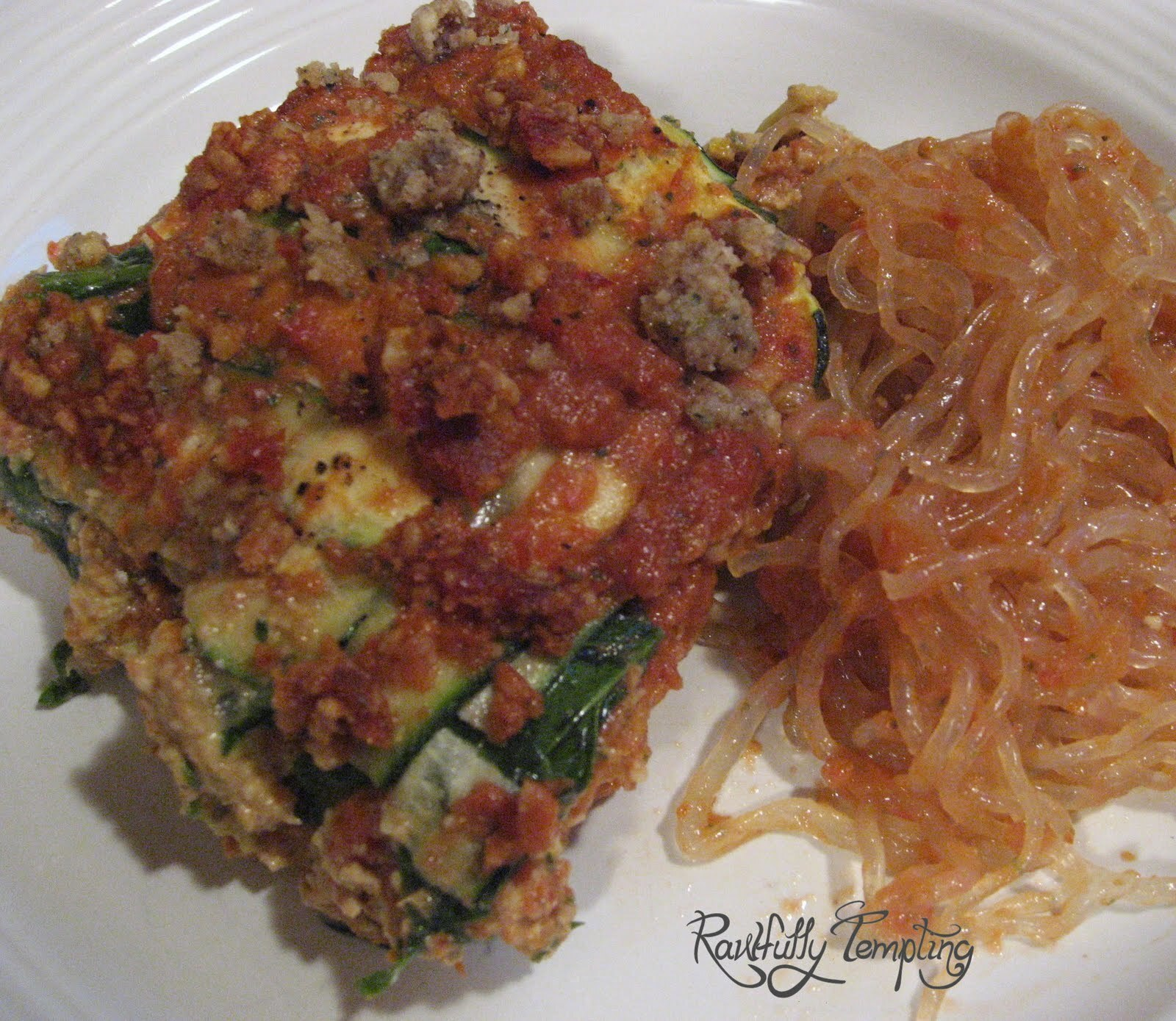Lasagna With Kelp Noodles and Marinara